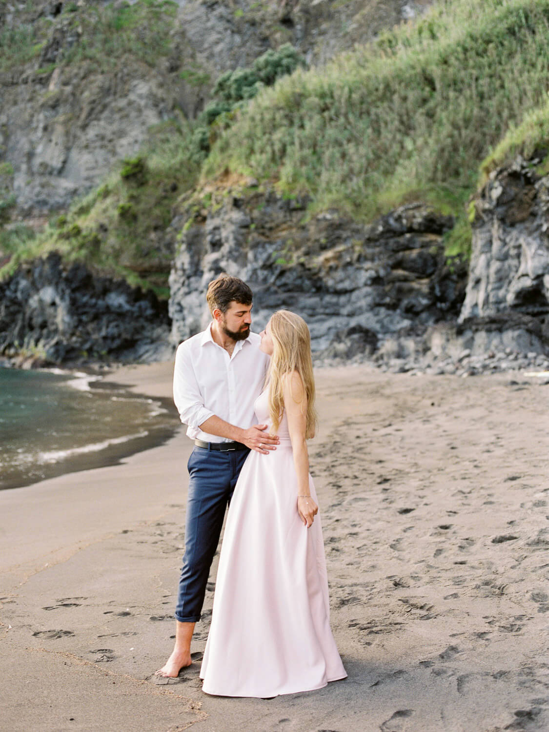 beach wedding in the Azores by Portugal Wedding Photographers