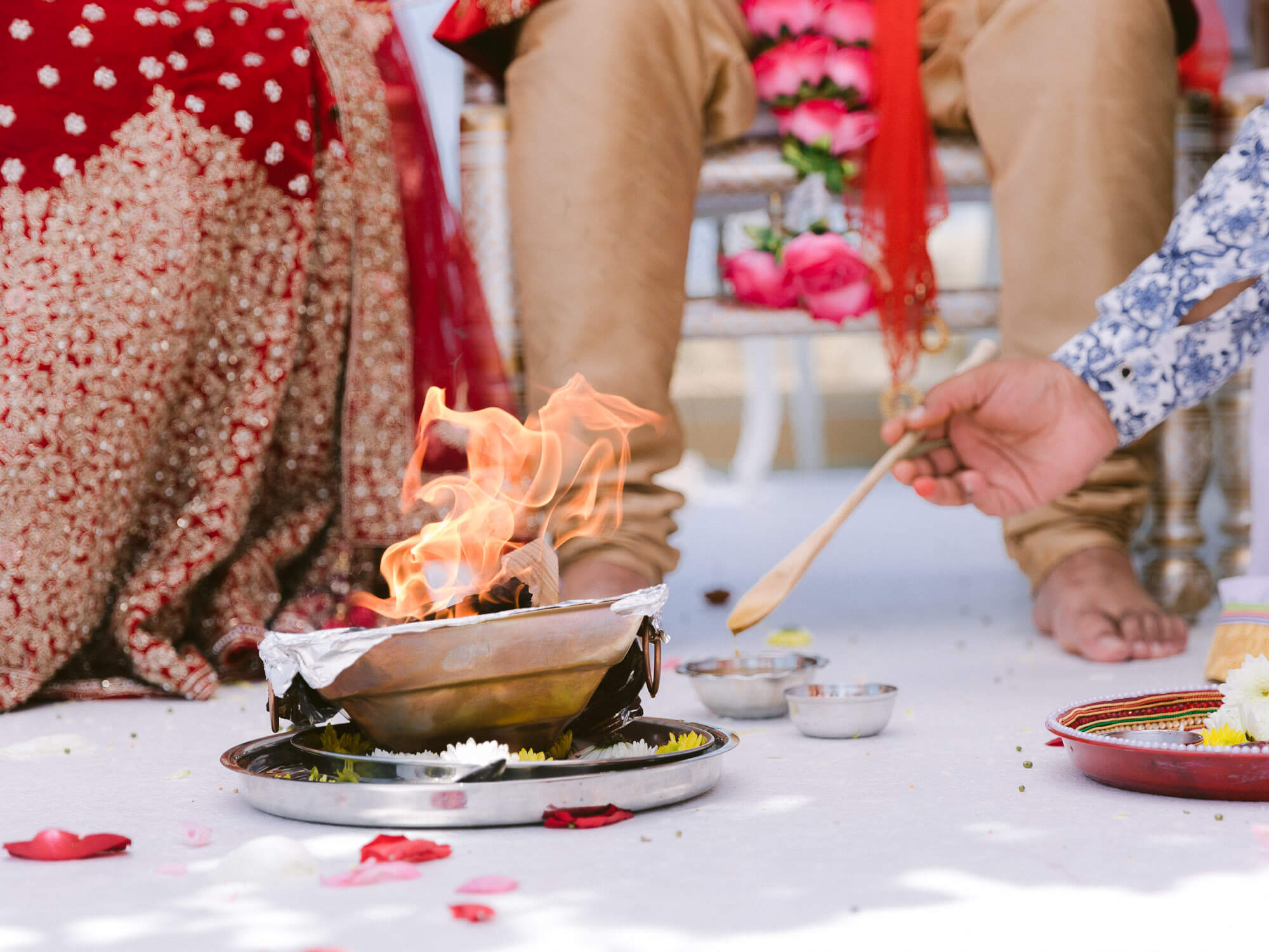 Indian Wedding Ceremony details by Portugal Wedding Photographer