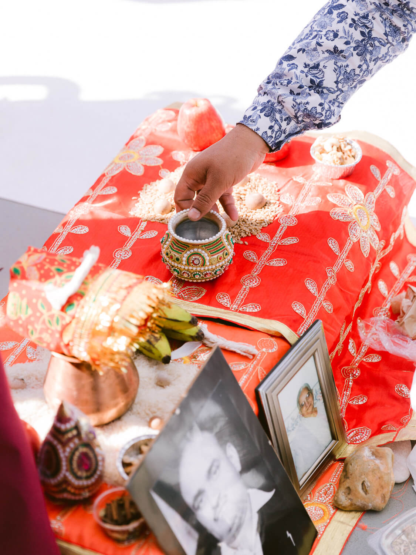 Hindu Wedding preparations details by Portugal Wedding Photographer