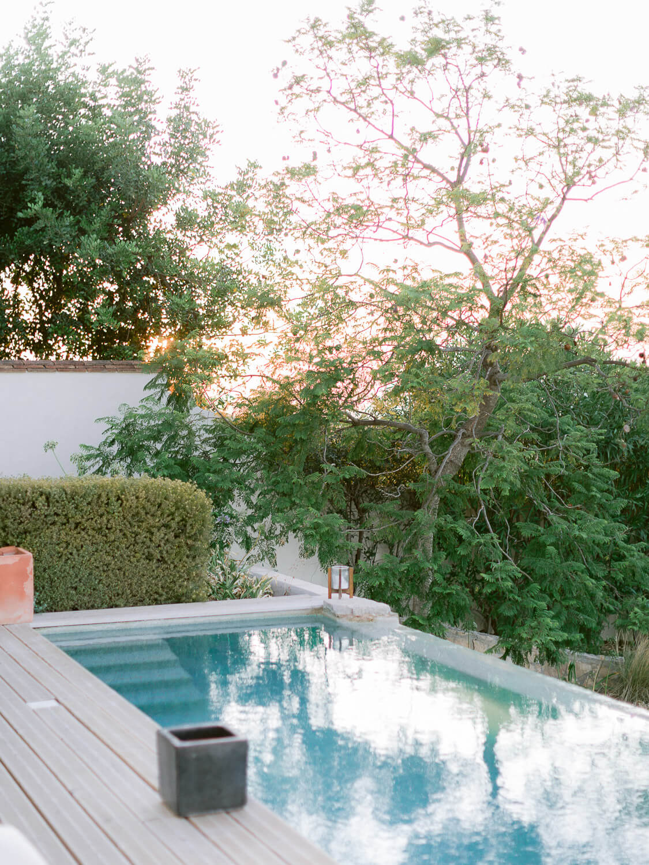 pool detail at Casa Rupi private wedding Villa in the Algarve