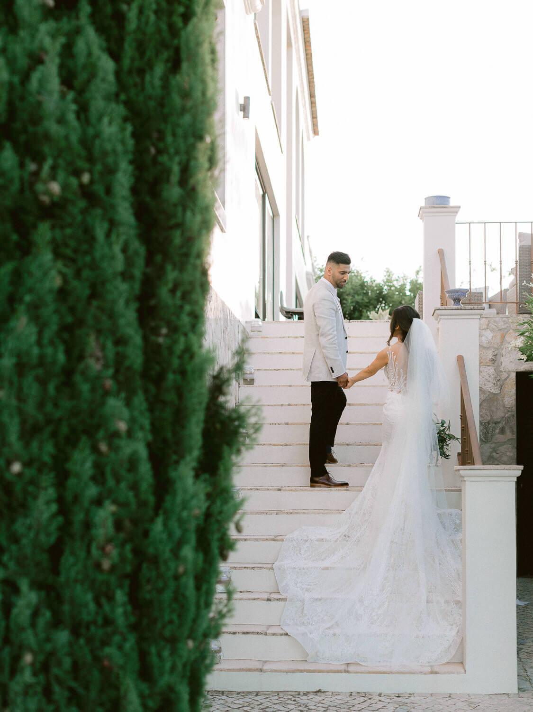 wedding couple at Casa Rupi private wedding Villa in the Algarve by Portugal Wedding Photographer
