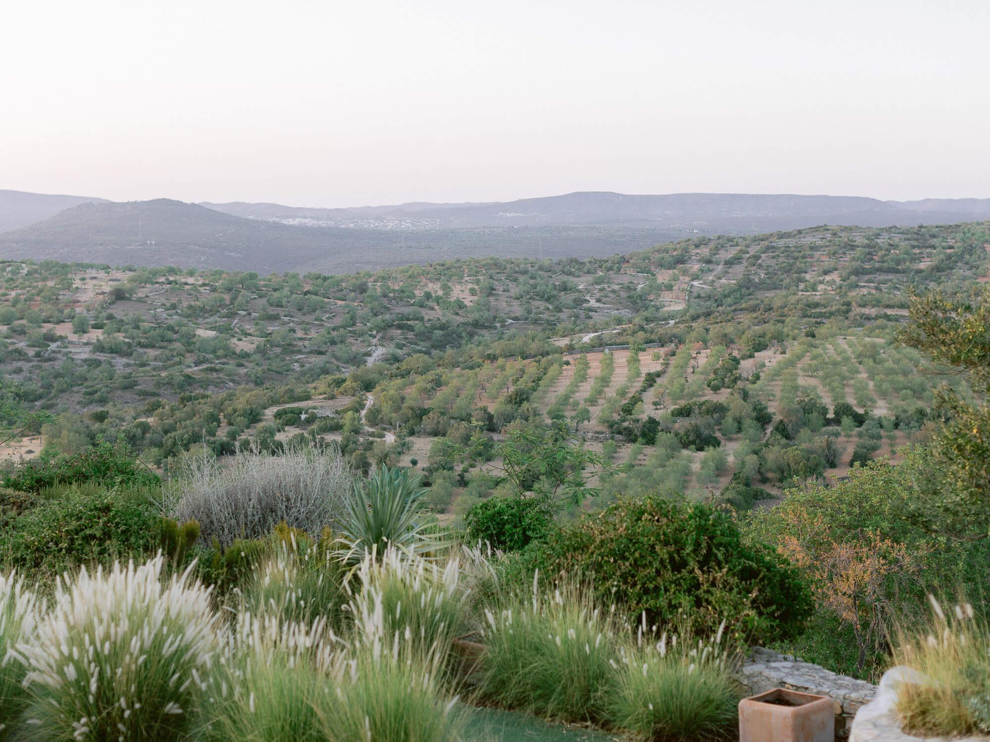 beautiful inland Algarve landscape by Portugal Wedding Photographer