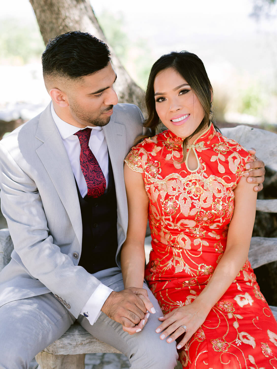 Romantic couple portrait during wedding rehearsal dinner in the Algarve by Portugal Wedding Photographer