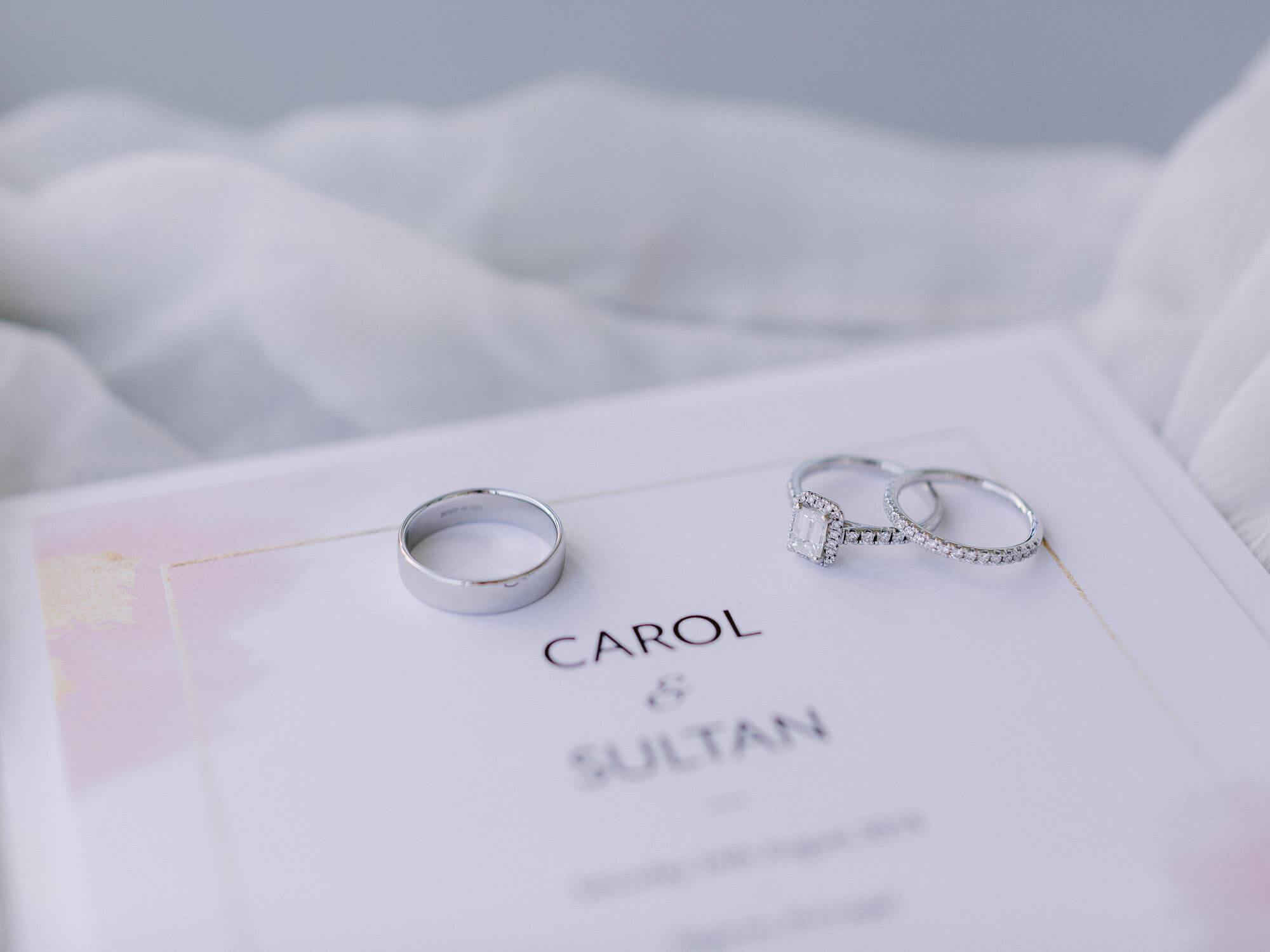 Wedding bands close-up for a destination wedding in the Algarve by Portugal Wedding Photographer