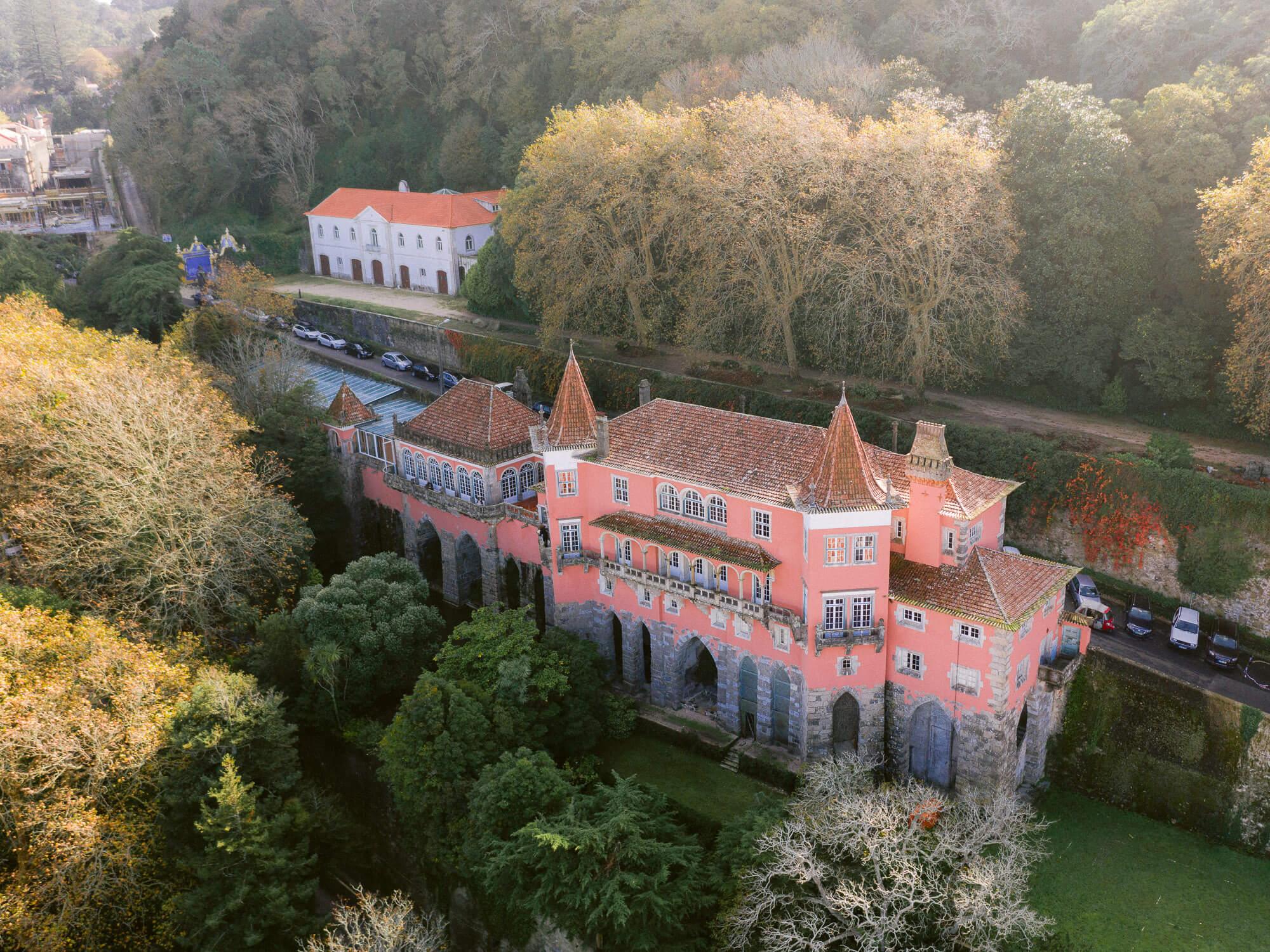 Casa dos Penedos Sintra Wedding venue overview by Portugal Wedding Photographer