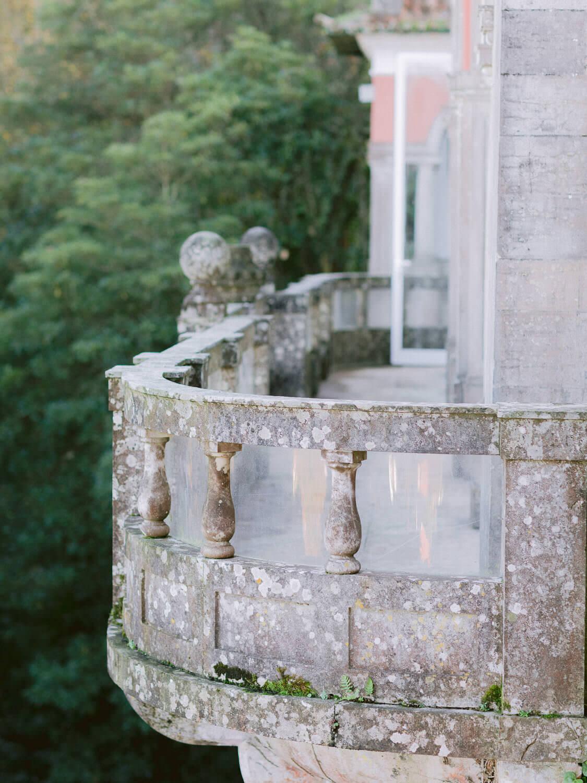 Casa dos Penedos balcony balustrade detail by Portugal Wedding Photographer