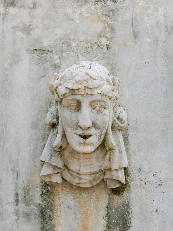 goddess gargoyle in Casa dos Penedos Sintra by Portugal Wedding Photographer