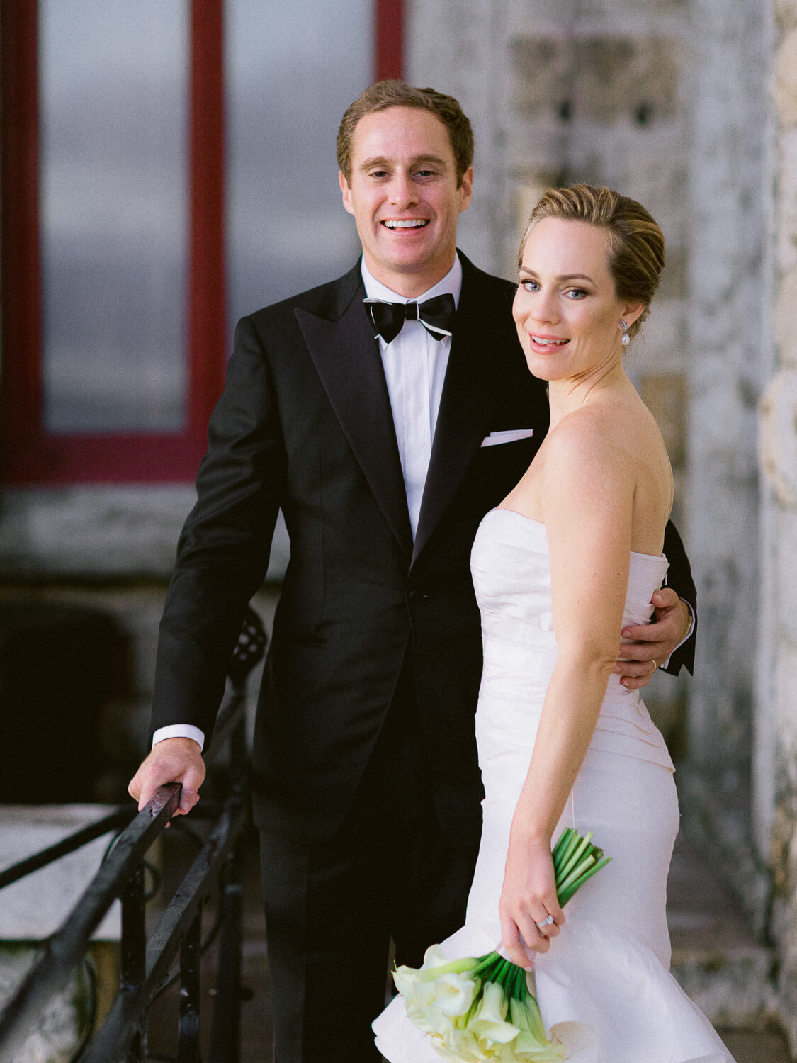 newlyweds lively portrait by Portugal Wedding Photographer