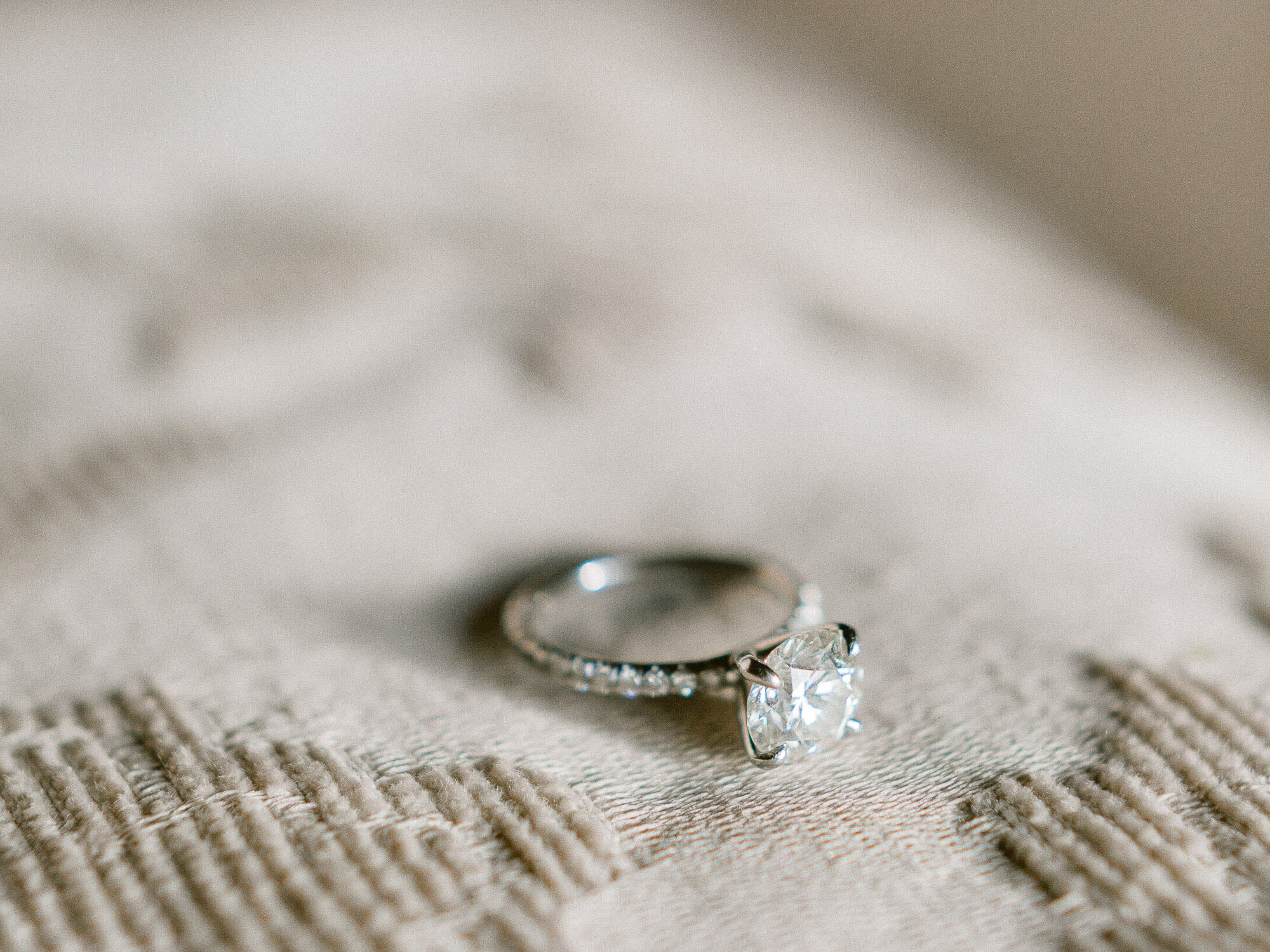 Engagement ring close up by Portugal Wedding Photographer