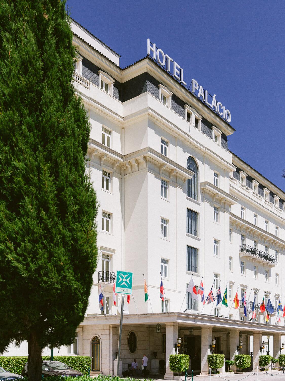 Hotel Palacio Estoril facade by Portugal Wedding Photographer