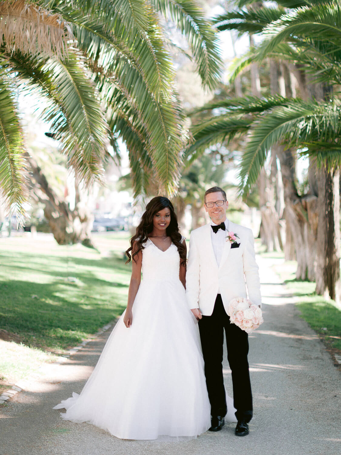 Bride and Groom sweet wedding portrait by Portugal Wedding Photographer