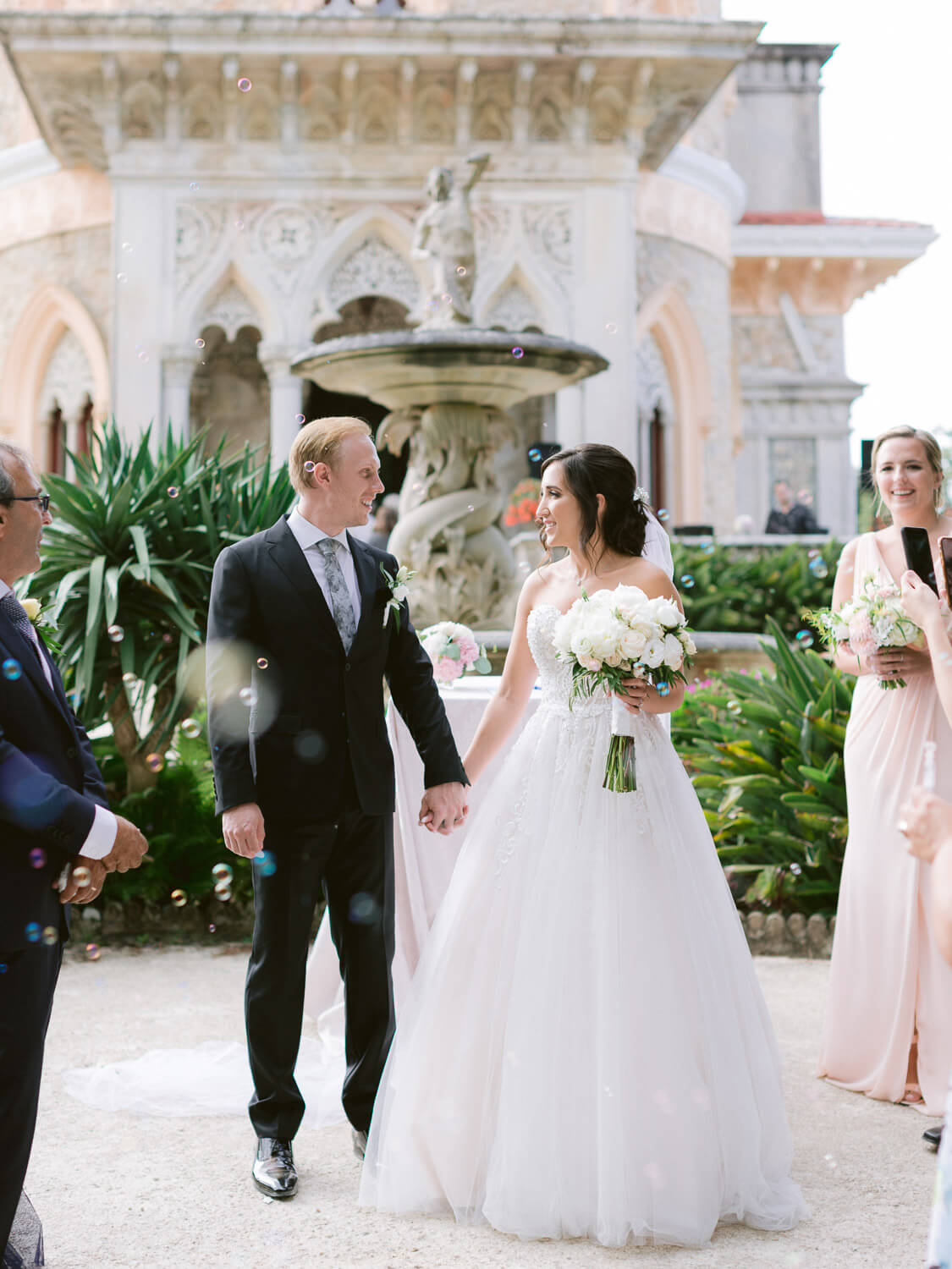 wedding ceremony finale in Monserrate Palace Sintra by Portugal Wedding Photographer