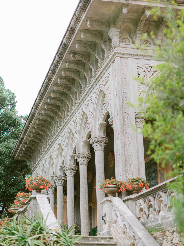 Monserrate Palace Sintra wedding venue unique Moorish influence facade by Portugal Wedding Photographer