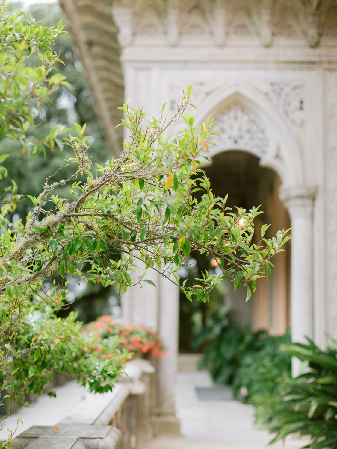 Detail of Monserrate Palace an exclusive wedding venue in Sintra by Portugal Wedding Photographer