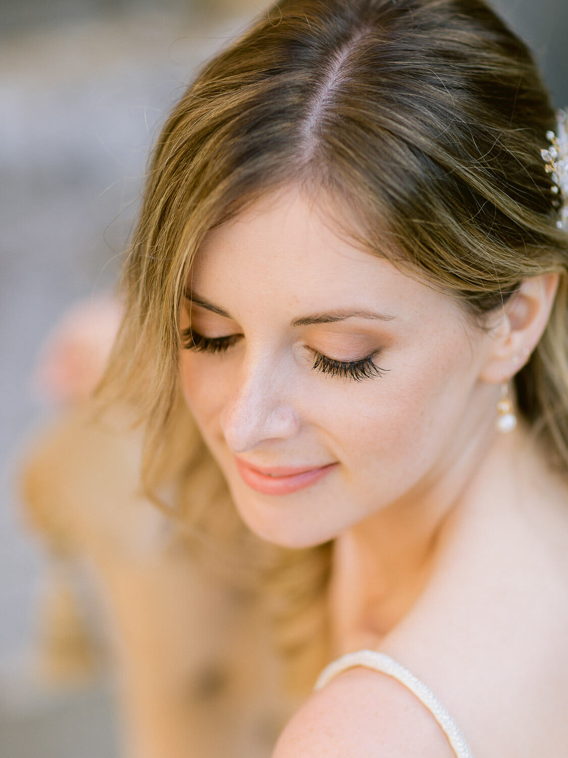 beautiful bride's close up portrait in My Vintage Wedding Sintra by Portugal Wedding Photographer