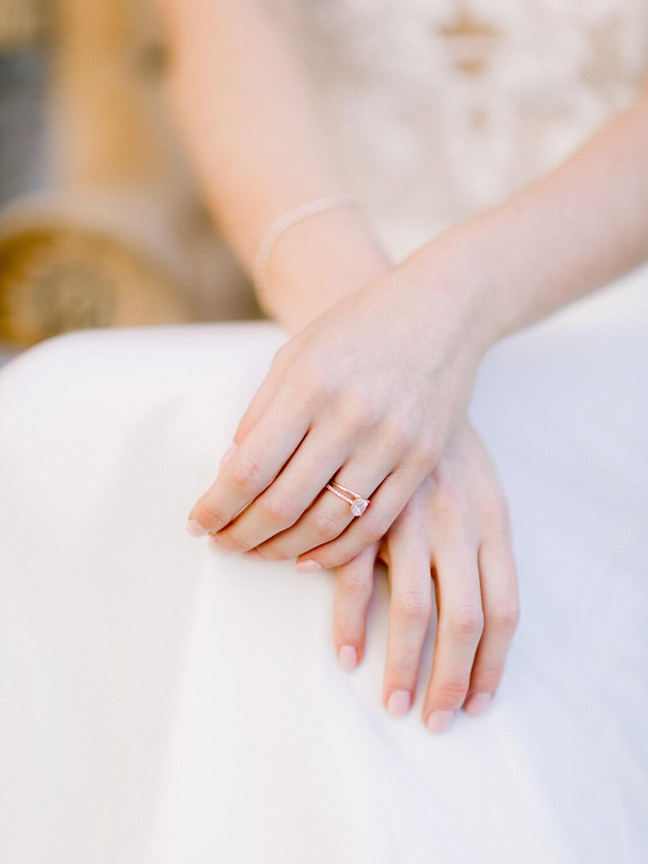 delicate bride's hand's detail portrait by Portugal Wedding Photographer