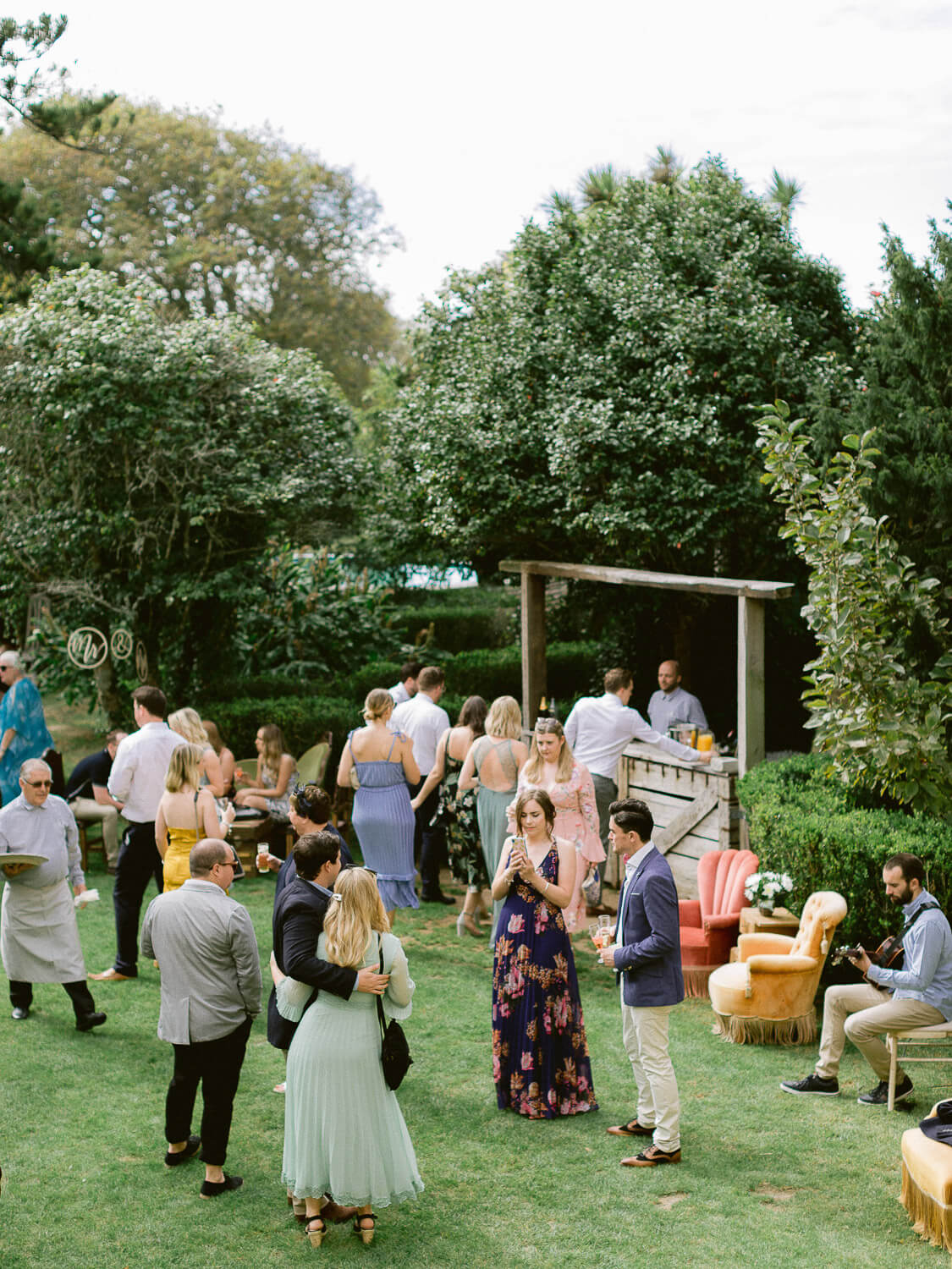 outdoor wedding cocktail group gathering by Portugal Wedding Photographer