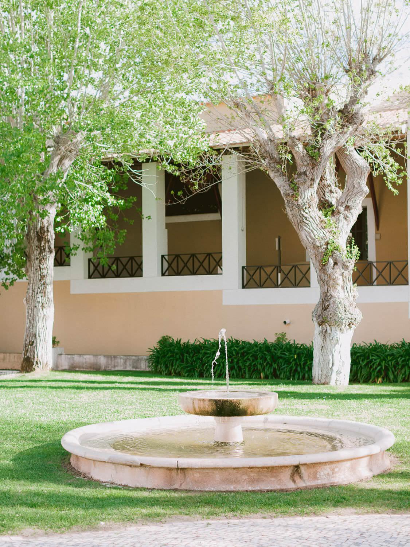 Penha Longa Resort fountain garden by Portugal Wedding Photographer