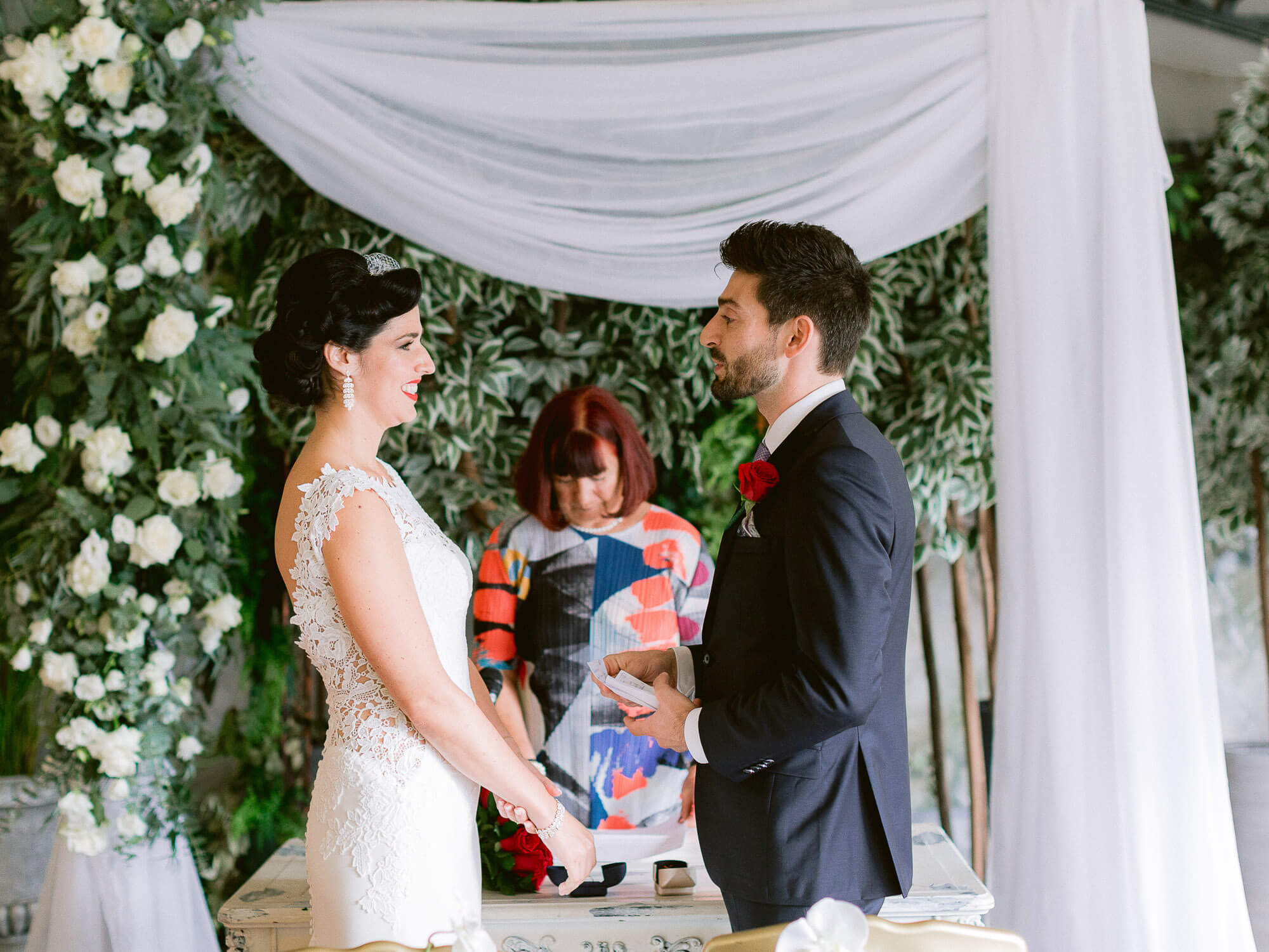 wedding vow's exchange by Portugal Wedding Photographer