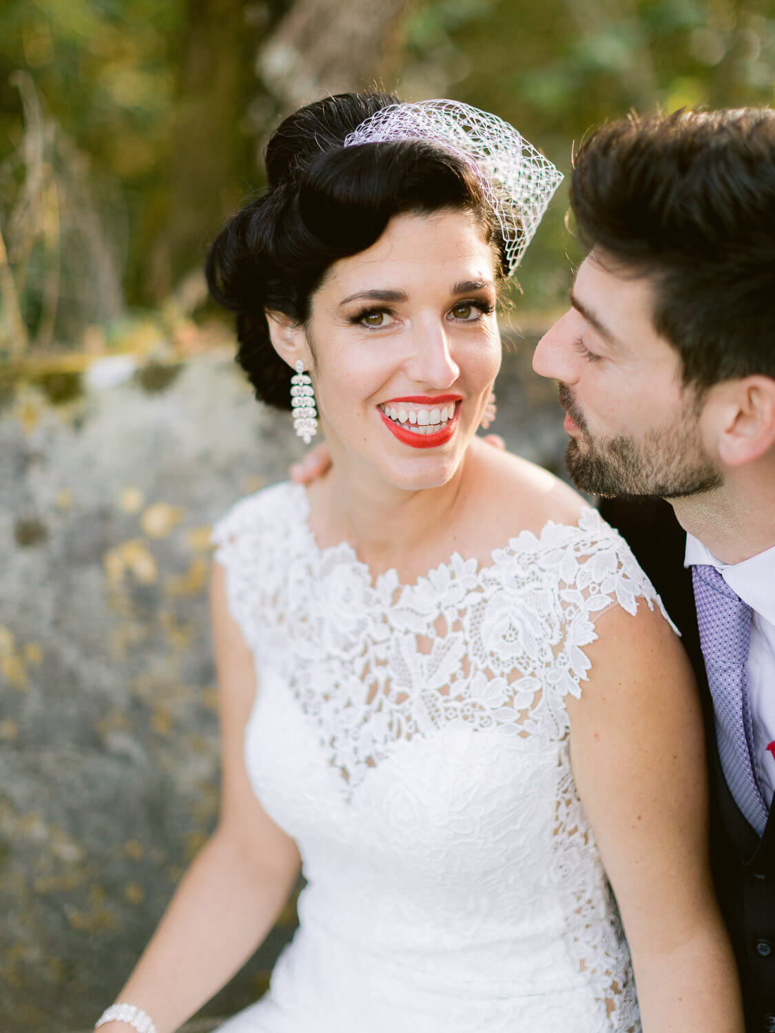 beautiful 50th style bride portrait by Portugal Wedding Photographer