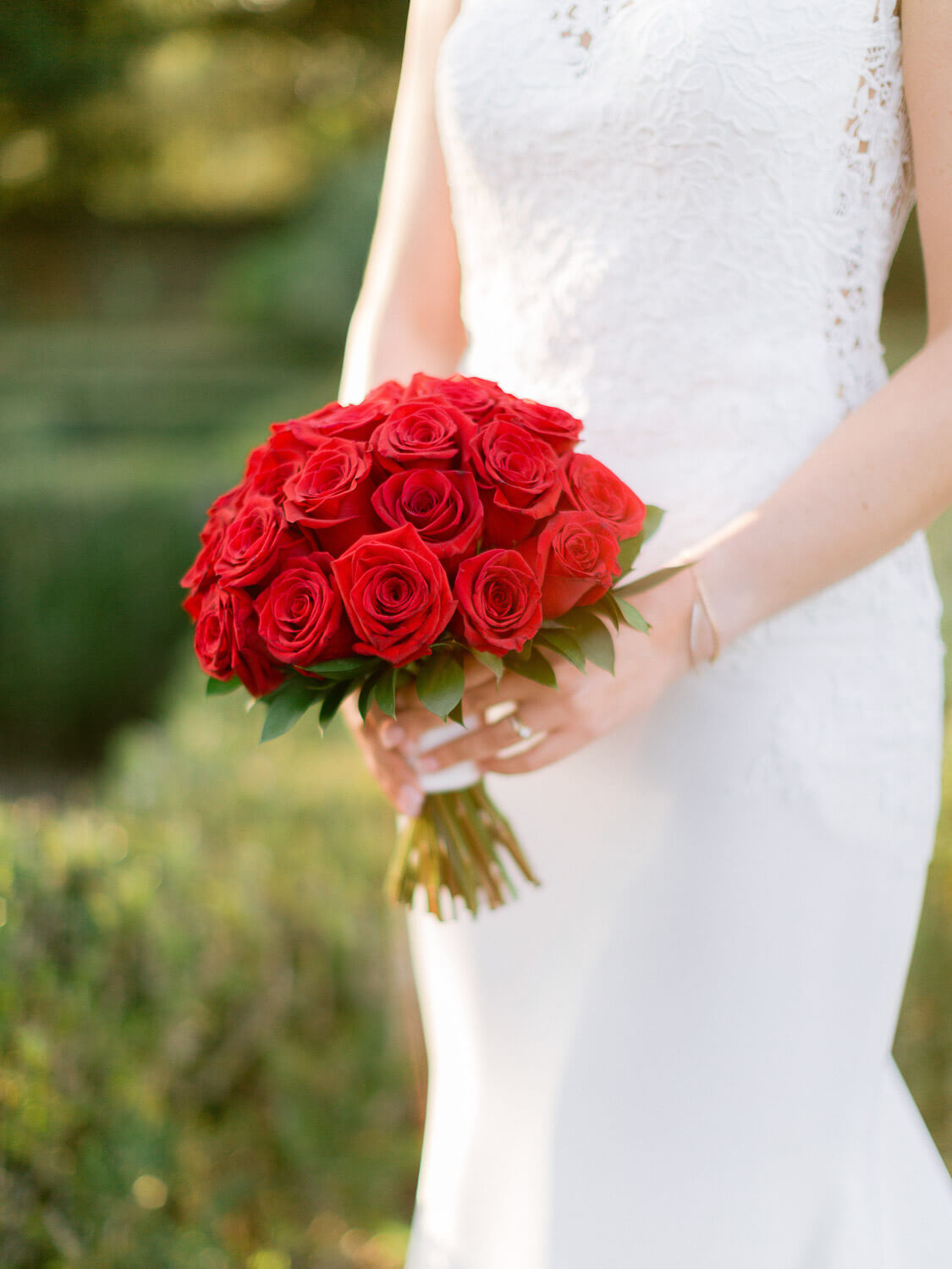 red roses bouquet by Portugal Wedding Photographer