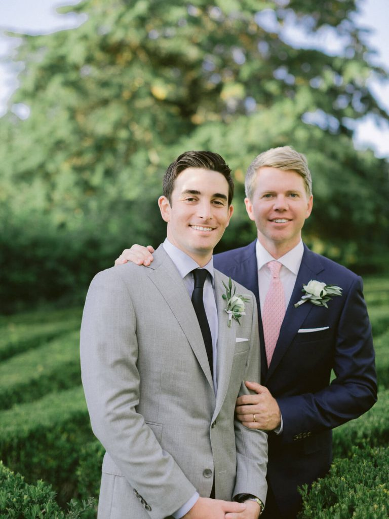 Groom and Groom portrait at Wedding in Seteais, Sintra by Portugal Wedding Photographer