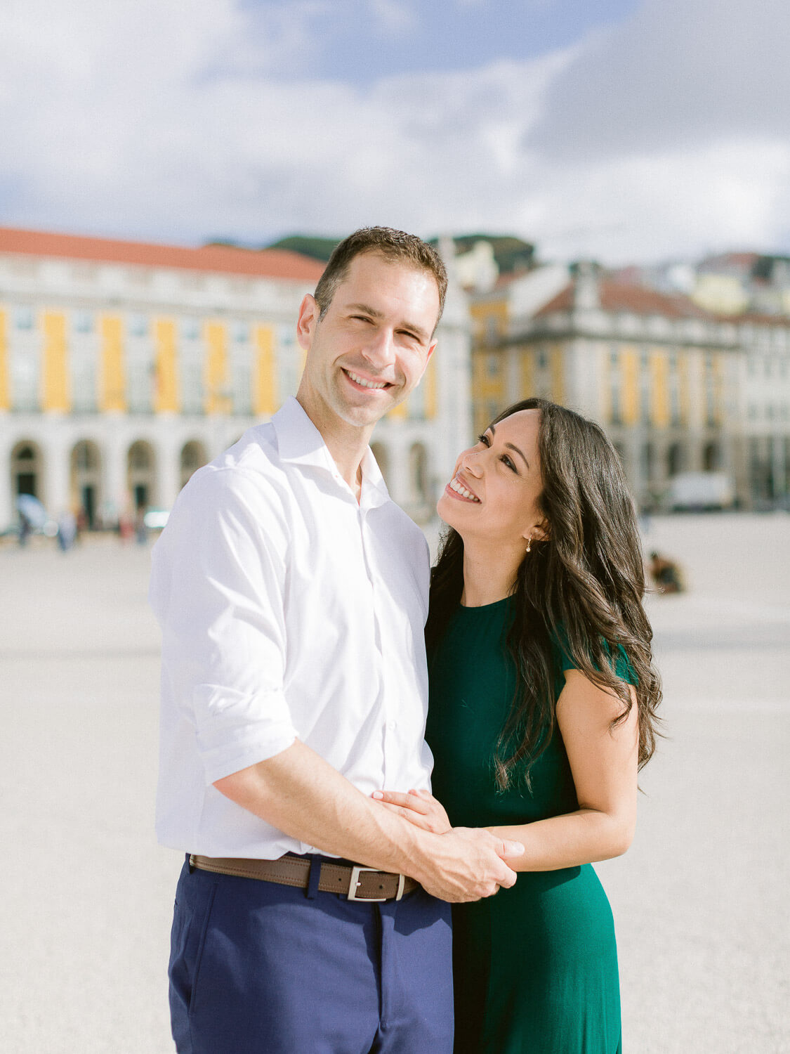 Couple portrait on Engagement Session in Lisbon by Portugal Wedding Photographer