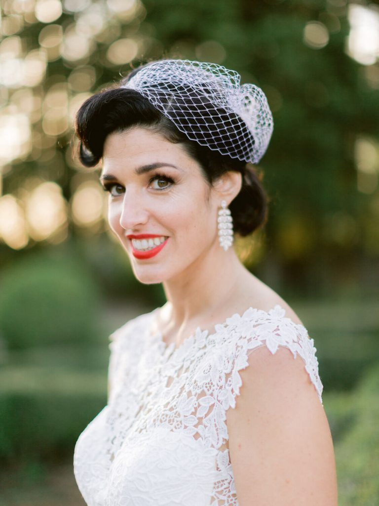 fifties style bride portrait by Portugal Wedding Photographer