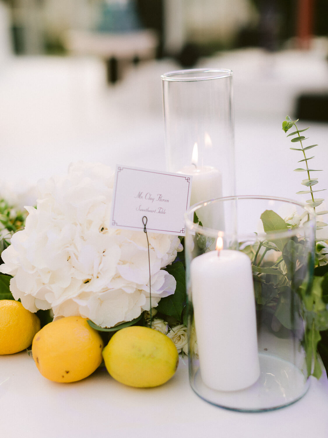 wedding reception table decorative detail in Seteais Palace Sintra by Portugal Wedding Photographer