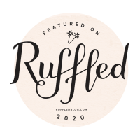 Featured on Ruffled 2020 badge for Portugal Wedding Photographer