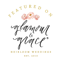 featured on glamour and grace badge for Portugal Wedding Photographer